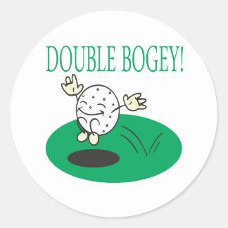 Double Bogey Classic Round Sticker