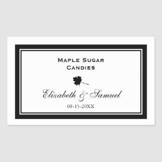 Double border maple leaf wedding reception candy stickers