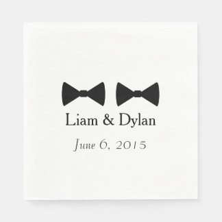"""""""Double Bow Ties"""" Paper Napkins"""