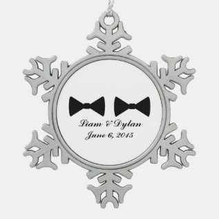 """""""Double Bow Ties"""" Pewter Ornament at Zazzle"""