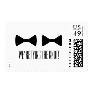 """Double Bow Ties"" Postage Stamps"