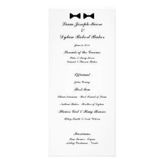 """Double Bow Ties"" Wedding Program"