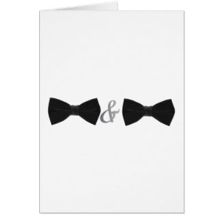 double bowties card