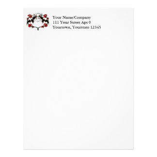 Double Brown Bat Vignette Letterhead