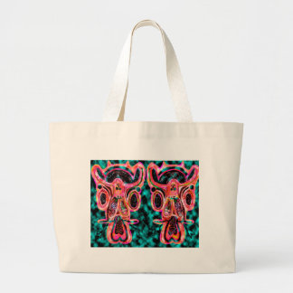 Double Bull  - Red Energy Party Animal V2 Tote Bag
