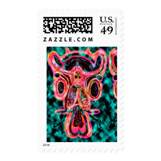 Double Bull - Red Energy Party Animal V2 Postage
