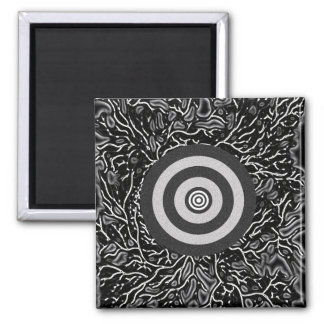 Double Bull's Eye 2 Inch Square Magnet