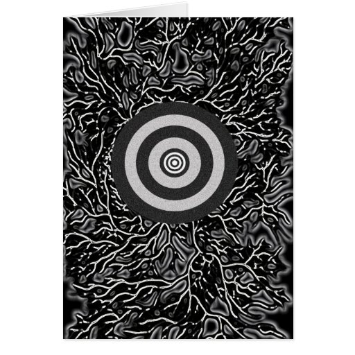 Double Bull's Eye Greeting Cards