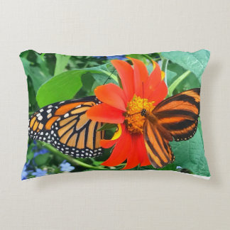 """Double Butterfly Love"", Photo / Digital Painting Accent Pillow"