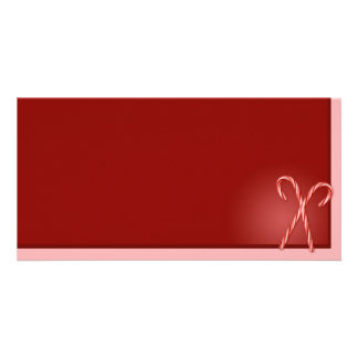 Double Candy Cane Picture Card