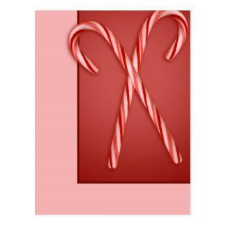 Double Candy Cane Postcard