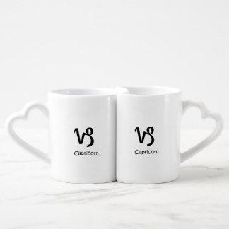 double Capricorn fish tailed goat Zodiac Astrology Coffee Mug Set