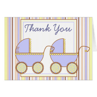 Double Carriage - Thank You Notecard