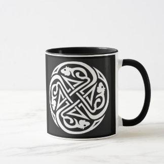 Double Celtic Rat Circle Mug