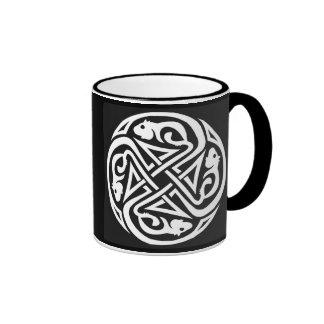 Double Celtic Rat Circle Ringer Coffee Mug