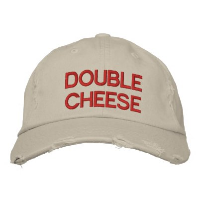 Double Cheese Embroidered Hat
