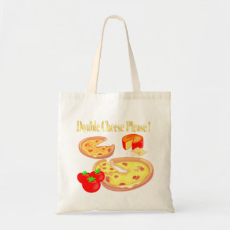 Double Cheese Please Budget Tote Bag