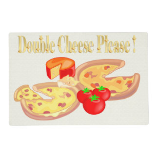 Double Cheese Please Laminated Place Mat