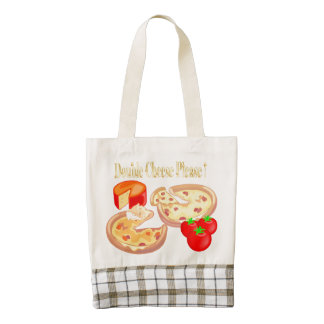 Double Cheese Please Zazzle HEART Tote Bag