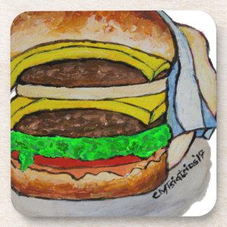 Double Cheeseburger Beverage Coaster