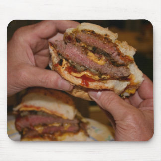 Double Cheeseburger in Paradise Mouse Pad