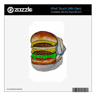 Double Cheeseburger iPod Touch 4G Decal