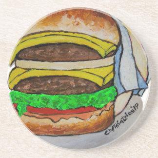 Double Cheeseburger Sandstone Coaster