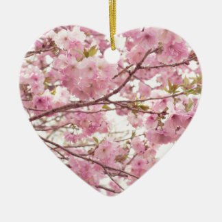 Double cherry blossoms in Japan Ceramic Ornament