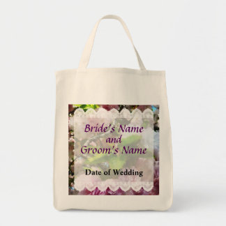 Double Cherry Blossoms Wedding Favors Tote Bag
