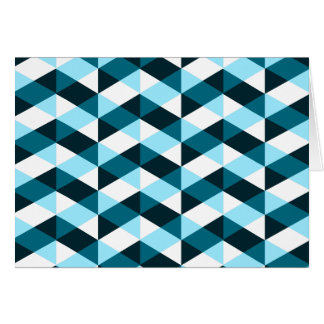 Double chevron pattern, dark and light blue. card