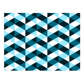 Double chevron pattern, dark and light blue. post cards