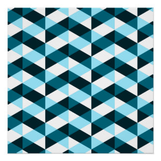 Double chevron pattern, dark and light blue. perfect poster