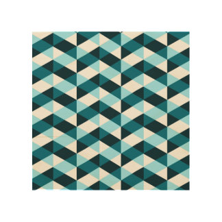 Double chevron pattern design in blues, overlapped wood wall decor