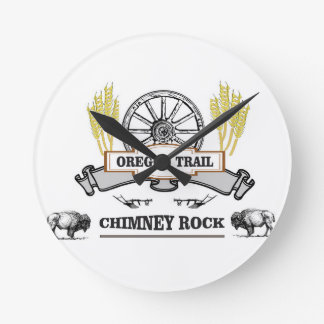 double chimney rock round clock