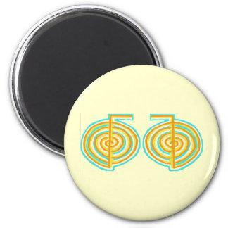 Double CHOKUREI = Karuna  Reiki KRIYA 2 Inch Round Magnet