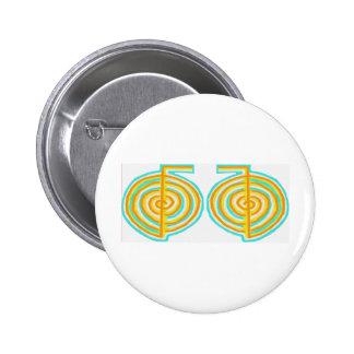 Double CHOKUREI = Karuna  Reiki KRIYA 2 Inch Round Button