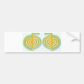 Double CHOKUREI = Karuna  Reiki KRIYA Car Bumper Sticker