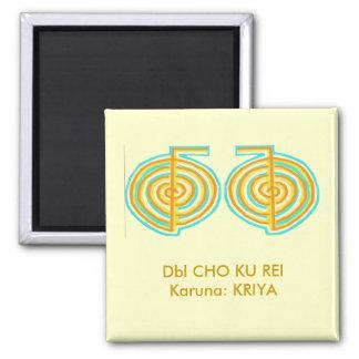Double CHOKUREI = Karuna  Reiki KRIYA 2 Inch Square Magnet