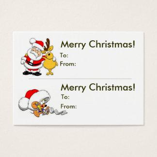 Double Christmas Gift Tag