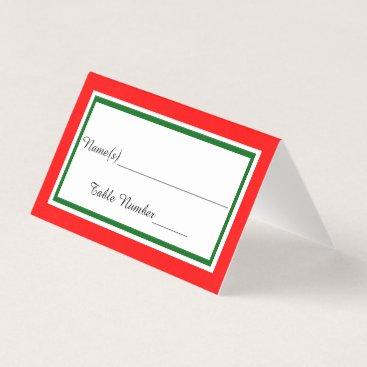 Wedding Themed Double Christmas Trim - Escort Card