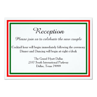 Double Christmas Trim-Reception Invition Card