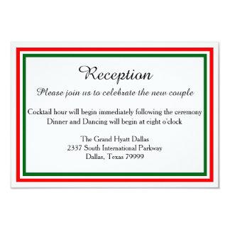 Double Christmas Trim-Reception Invition Invitation