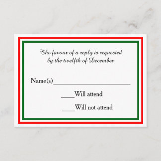 Double Christmas Trim - RSVP Card