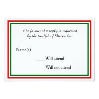 Double Christmas Trim - RSVP Card