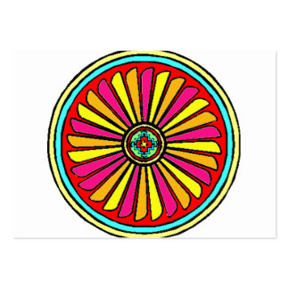 Double Circle design with inner colorful fan Business Cards