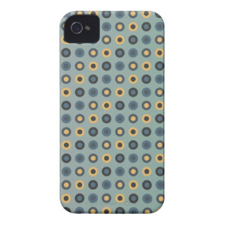 double circles masculine mustard iPhone 4 cover