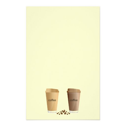 DOUBLE COFFEES CREAM SUGAR HONEY  BEVERAGES HOT WA STATIONERY DESIGN