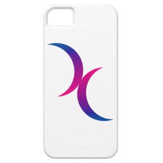Double Crescent Moon Bisexual Pride Symbol iPhone SE/5/5s Case