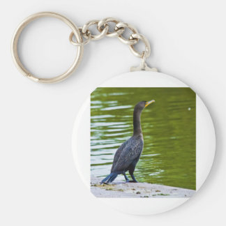 Double Crested Cormorant Basic Round Button Keychain