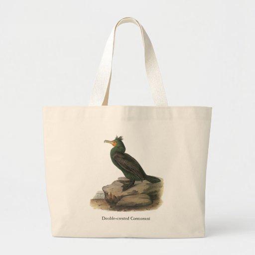 Double-crested Cormorant, John Audubon Jumbo Tote Bag